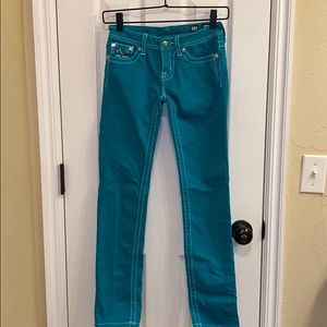 Miss Me • Youth Turquoise Skinny Jeans (12)